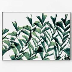 메탈 식물 아트 포스터 인테리어 그림 액자 그린 그린