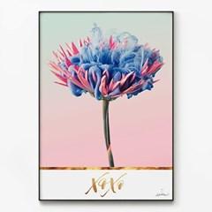 메탈 레터링 꽃 식물 포스터 인테리어 액자 데이지