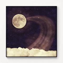 메탈 빈티지 포스터 일러스트 액자 Vintage moon sky 2