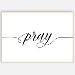성경 말씀 거실 인테리어 포스터 액자 FA01 PRAY