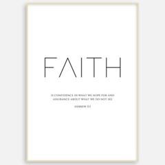 성경 말씀 교회 거실 인테리어 포스터 액자 FA98 히브리서