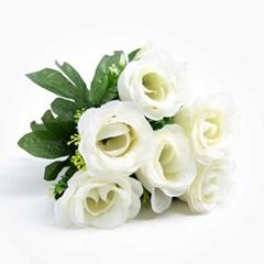 장미 조화꽃 6개입 (화이트)