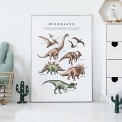공룡 아이방 액자 인테리어 그림 포스터