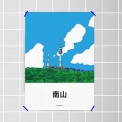 유니크 인테리어 디자인 포스터 M 남산타워 남산 서울