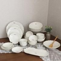 로맨틱라움4인홈세트(26p) 신혼 도자기 빈티지 그릇 식기 세트
