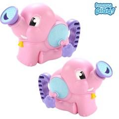 해피플레이 목욕놀이 코끼리 물펌프 샤워기 물놀이 장난감 핑크