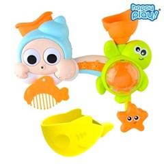 해피플레이 목욕놀이 바다친구들 샤워기 아기 물놀이 장난감