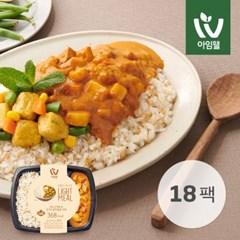 [아임웰] 귀리 곤약밥 & 코코넛 닭가슴살 커리 249g 18팩