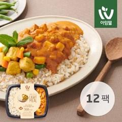 [아임웰] 귀리 곤약밥 & 코코넛 닭가슴살 커리 249g 12팩
