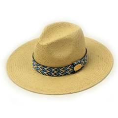 Blue Wave Line Swing Beige Fedora 여름페도라