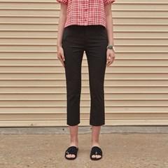 SLIM CROP COTTON PANTS_BLACK