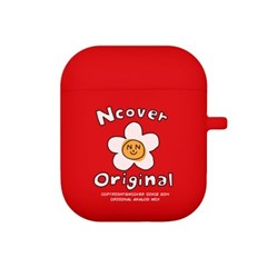 Flower graphic-red(airpods jelly case)_(1211295)