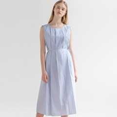PLEATS STRAP ONE-PIECE_SKY BLUE