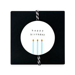 촛불켜고 생일축하해 원형 라벨 (10개)