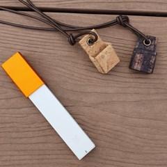전자담배 CSV 릴 베이퍼 이니셜 목걸이 케이스 / 코르크
