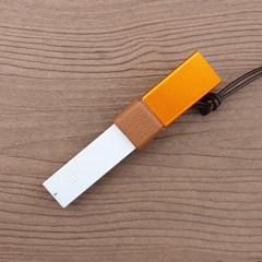 전자담배 CSV 릴 베이퍼 이니셜 목걸이 가죽 케이스