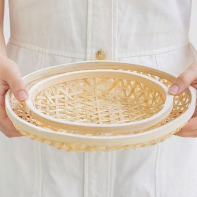 라탄 대나무 튀김 바구니 (2 Set)