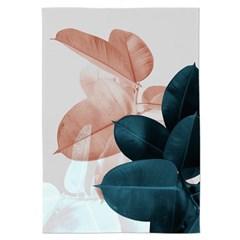 패브릭 포스터 식물 플라워 거실 인테리어 그림 액자 리프