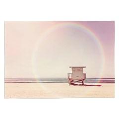패브릭 포스터 여름 거실 해변 인테리어 그림 액자 무지개해변