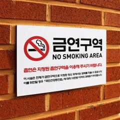금연구역 안내 표지판