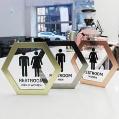 허니메탈 화장실 표지판