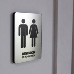 메탈사인 화장실 표지판 (S)