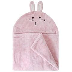 [밀리언달러베이비]베이비 후드타올 토끼 핑크(목욕&비치타올&담요)