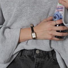 5193 소가죽 스퀘어 손목시계 (3color)