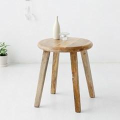 마켓비 BEN 라운드원목스툴 망고나무 내추럴_(103388591)