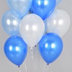 천장풍선세트 블루오션 (풍선20개+컬링리본+스폰지닷)