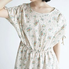 kitch flower shirring dress (2colors)_(1295480)