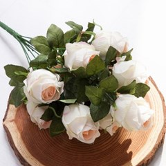 몽글캡장미부쉬o 50cm FAIAFT 조화 꽃 인테리어소품_(1340767)