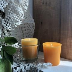 [드야나 밀랍초] 보티브밀랍초 50g 2개 set +유리홀더증정