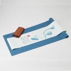 내츄럴 프리미엄 티테이블 러너(3P세트) 2 / 블루