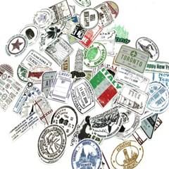 세계 여권도장 스티커 60장모음