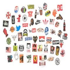 해외 유명브랜드 로고 스티커 60장 모음(캐리어 노트북 스티커)