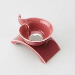 도자기 서향 거름망-핑크