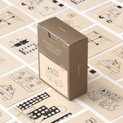 메세지 카드 - 모노캣