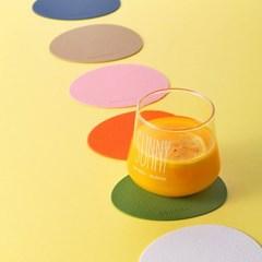 [케라미카]실리콘 컵받침 티코스터 오벌4Pset(13color)_(1798779)