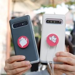 아이폰7 Liso-CatTok 그립톡 카드 범퍼 케이스