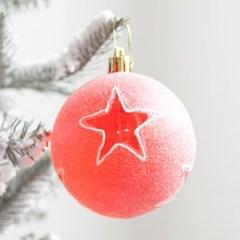 스타투명별볼 80mm (4개입) 트리 크리스마스 TRBALC_(1357025)