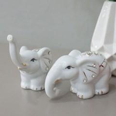 화이트 나뭇잎 코끼리 2p set_(1644282)