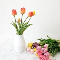튤립 조화 부쉬&테이블장식 꽃병