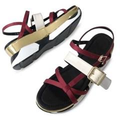 kami et muse  Enamel belt point tall up sandals_KM19s307