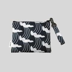 '파도맛' pattern pouch