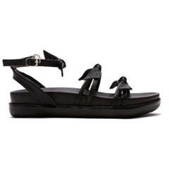 [피어포] Choker Ribbon Sandal_Black (W)