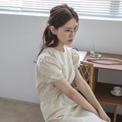 [치즈달] 퍼프슬리브 미니 프릴 드레스
