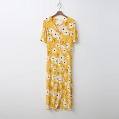Daisy Button Long Dress