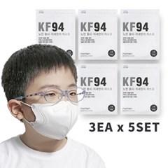 초미세먼지 차단 4단필터 KF94어린이마스크 3매x5세트_(1050914)