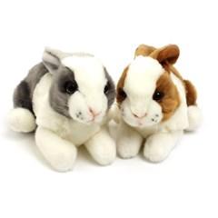 3888/3889 토끼 동물인형세트(갈색,회색) 21cm.H_(1386694)
